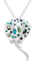 Sterling Silver Stingray Pendant 4763 with Abalone Shell