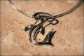 Aqueous Silhouette Sterling Silver Hammerhead Shark Necklace