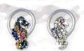 crystal seahorse toe rings