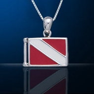 Sterling Silver Dive Flag Necklace