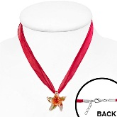Glass Starfish Necklace 544 on neck model