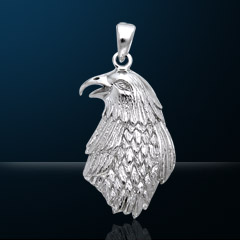 Premium Jewelry Alloy Golden Eagle Pendant PA 5524