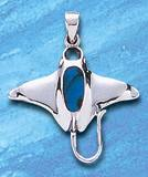 Premium Jewelry Alloy Manta Ray Pendant PA 6810