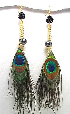 Peacock Feather Earrings 714