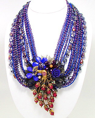 Handcrafted Peacock Necklace 991