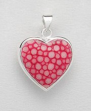 Sterling Silver Stingray Leather Pendant PP 947 (Pink)
