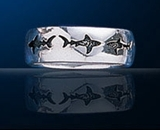 Premium Jewelry Alloy Seahorse Band Ring PA 1329