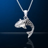 Sterling Silver Shark Necklace DP 660