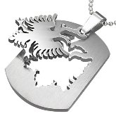 Stainless Steel Albanian Eagle Necklace 530