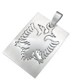 Stainless Steel Albanian Eagle Pendant 651