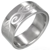Stainless Steel Artistic Ocean Wave Ring 840