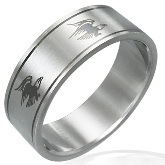Stainless Steel Eagle Band Ring 740