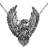 Stainless Steel Bald Eagle Pendant 081