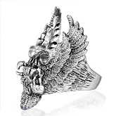 Stainless Steel Bald Eagle Ring 031 side view