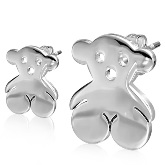 Stainless Steel Bear Post Earrings 603