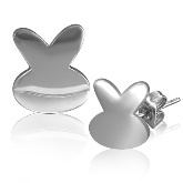 Stainless Steel Bunny Post Earrings 701