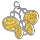 Stainless Steel Butterfly Charm 280