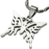 Stainless Steel Butterfly Pendant 120