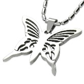 Stainless Steel Butterfly Pendant 430