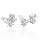 Stainless Steel Butterfly Post Earrings 170
