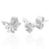Stainless Steel Butterfly Post Earrings 170