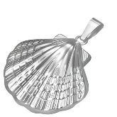 Stainless Steel Clam Shell Pendant 192
