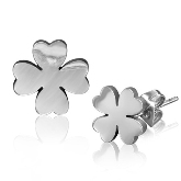 Stainless Steel Clover Post Earrings 090