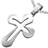 Stainless Steel Cross Pendant 580