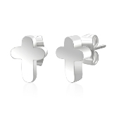 Stainless Steel Cross Post Earrings 250