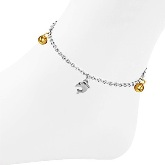 Stainless Steel Dolphin Anklet 500 on ankle model