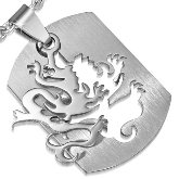 Stainless Steel Dragon Pendant 900