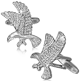 Stainless Steel Eagle Cufflinks 002