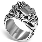 Stainless Steel Eagle Head Ring 651