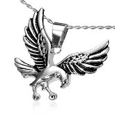 Stainless Steel Hawk Necklace 492