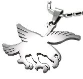 Stainless Steel Falcon Necklace 870