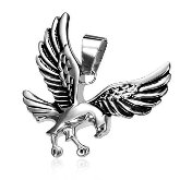 Stainless Steel Hawk Pendant 492