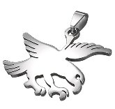Stainless Steel Falcon Pendant 870