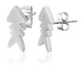 Stainless Steel Fishbone Post Earrings 180