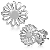 Stainless Steel Flower Post Earrings 832
