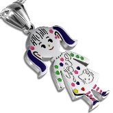 Stainless Steel Girl Pendant 221