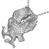 Stainless Steel Hawk Necklace 162