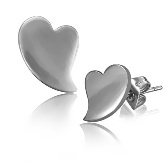 Stainless Steel Heart Post Earrings 211