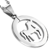 Stainless Steel Horse Pendant 830