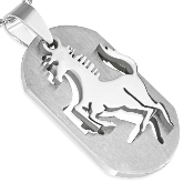 Stainless Steel Horse Pendant 052