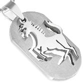 Stainless Steel Horse Pendant 052