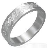 Stainless Steel Ocean Wave Ring 321