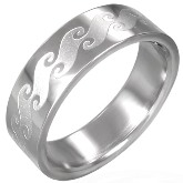 Stainless Steel Ocean Wave Ring 770