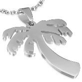 Stainless Steel Palm Tree Pendant 103