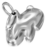 Stainless Steel 2 sided Rabbit Charm 631