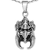Stainless Steel Raptor Head Necklace